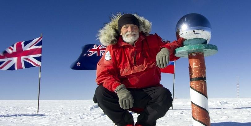 photo of adventurer in antarctica