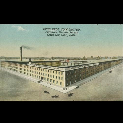 Postcard of factory