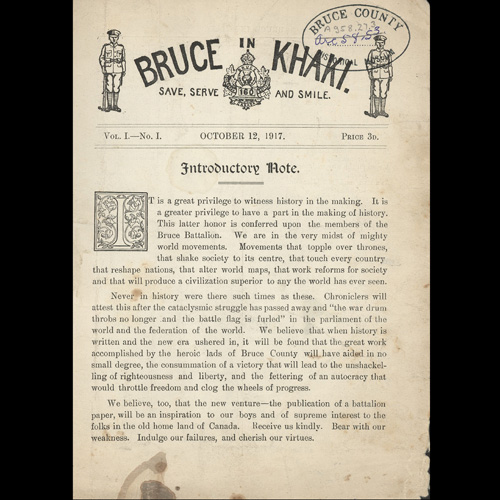 Page of Bruce in Khaki