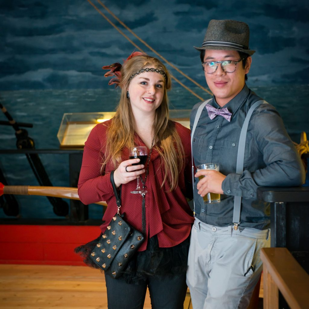 photo of a young couple at the museum