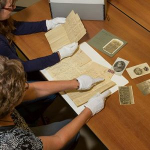 Photo of people researching family history