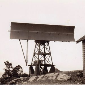 photo of top of hill radar from the Collection of the Secrets of Radar Museum