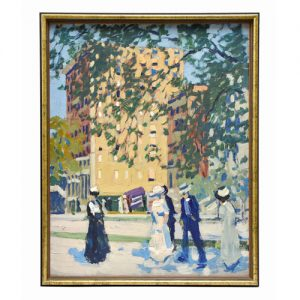 Painting titled 59th St. New York