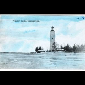 Postcard of Chantry Island Lighthouse