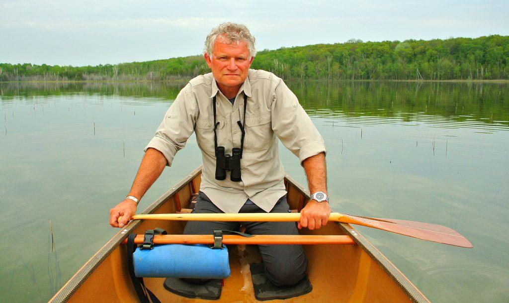 Image of Willy Waterton paddling