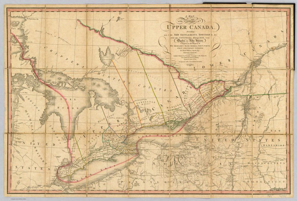 A map of Ontario from the year 1818.