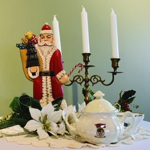 photo of tea pot and christmas decorations