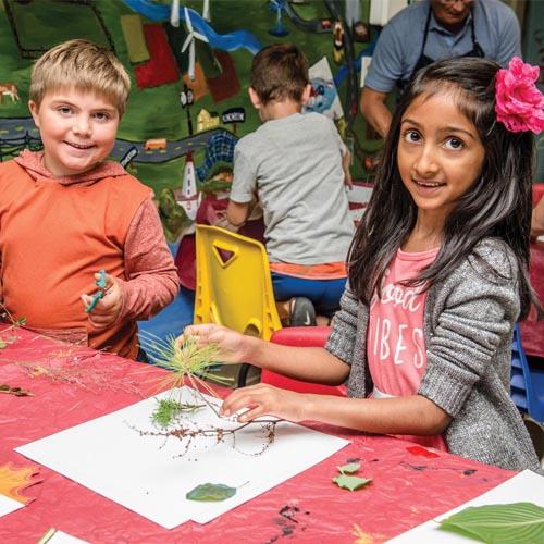 photo of children creating crafts