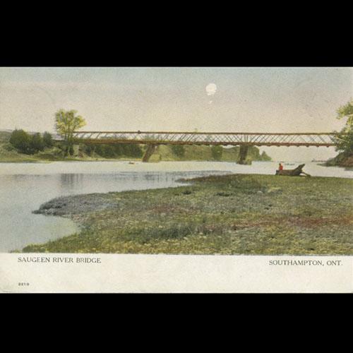 Postcard with Southampton bridge