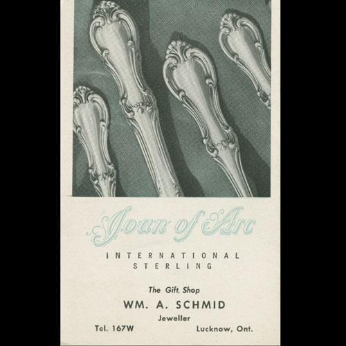 Advertisement for William Schmid