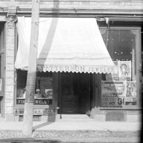 Street view of R. Patterson Jeweller's Shop