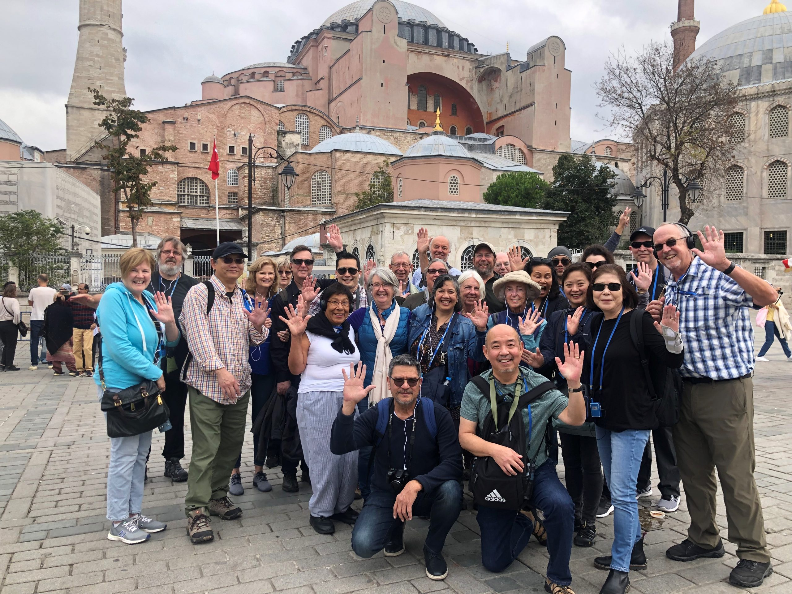 photo of group in front of building in Turkey