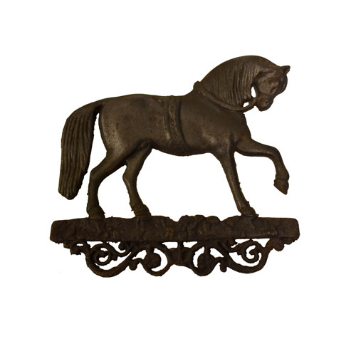 Horse decoration made in foundry
