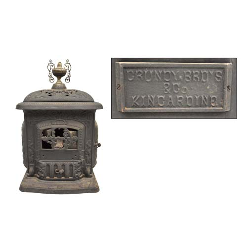Stove made at Grundy Bros. foundry