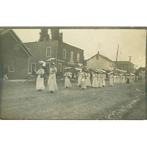 Ladies Parading with Parasols