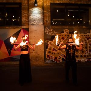 photo of dragon's breath fire dancers