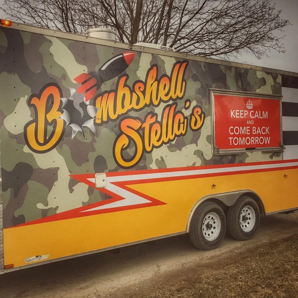 photo of bombshell stella's food truck